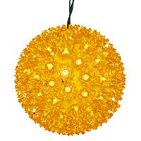 "100Lt x 7.5"" LED Gold Starlight Sphere"