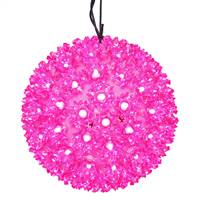 "150Lt x 10"" LED Pink Starlight Sphere"
