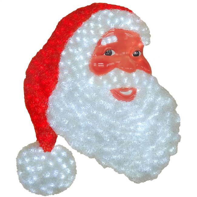 "21.5"" x 17.7"" Wall Santa Face 320LED"