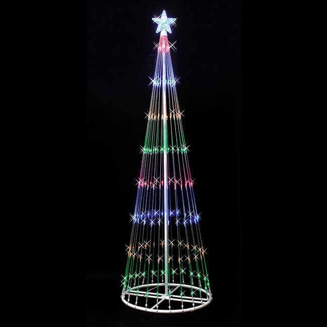 "4' x 24"" LED 152 Multi Light Show Tree"