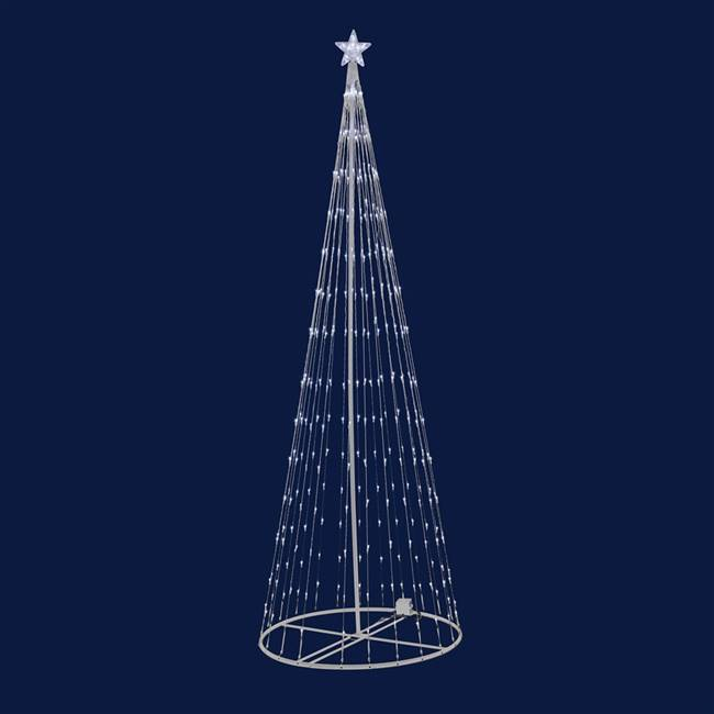 "4' x 24"" LED 152 WmWht Light Show Tree"
