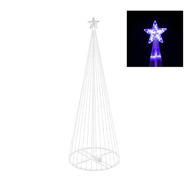 "6' x 28"" LED 200 Purple Light Show Tree"