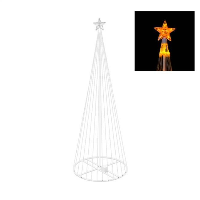 "6' x 28"" LED 200 Gold Light Show Tree"