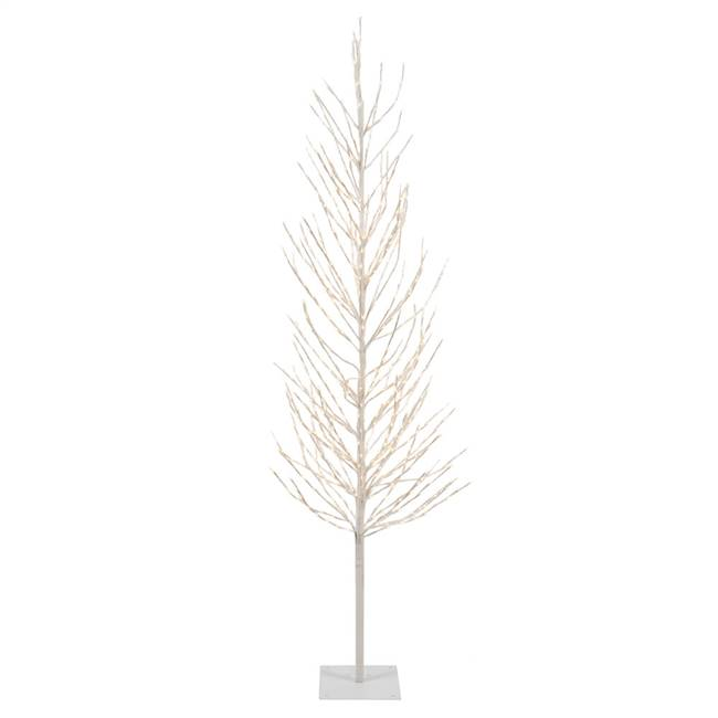 4' White Tree LED280 WmWht Flat Base