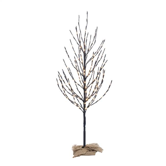 4' Brown Tree LED280 WmWht Flat Base