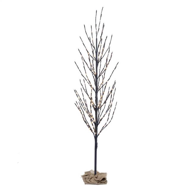 8' Brown Tree LED800 WmWht Flat Base