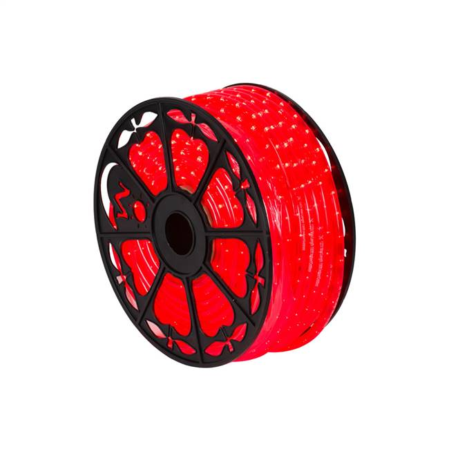 "150' x .5"" Red LED Rope Light 120V"