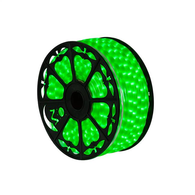 "150' x .5"" Fluorescent Green LED Rope Lt"