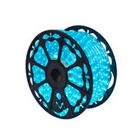 "150' x .5"" Turquoise LED Rope Light 120V"