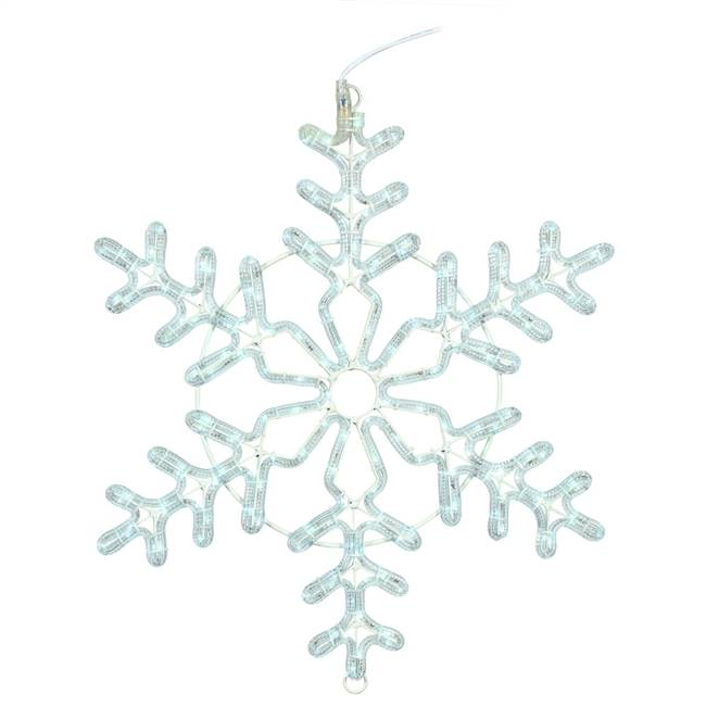 "48"" PureWht LED Forked Snowflake"