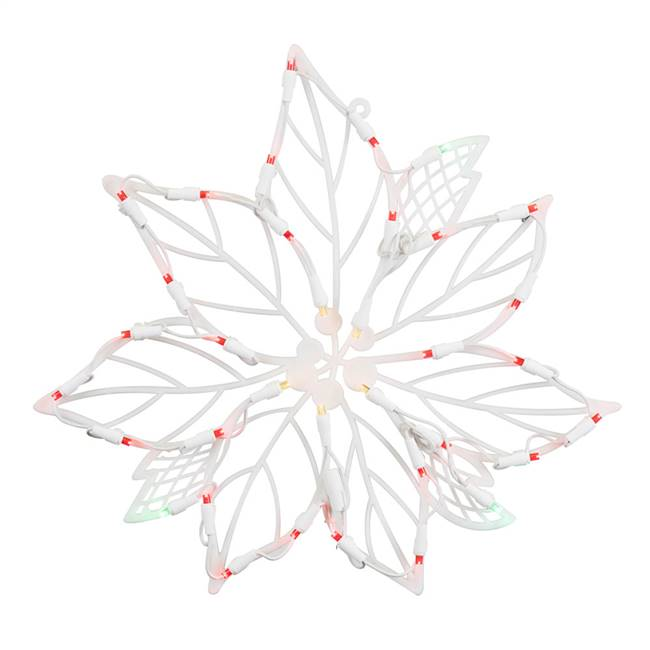 35Lt LEDPoinsettia Window Decor 16-15""