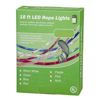 "18' Purple LED RopeLt 13mm 2""BulbSp"