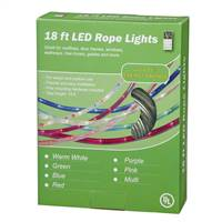 "18' Pink LED RopeLt 13mm 2""BulbSp"