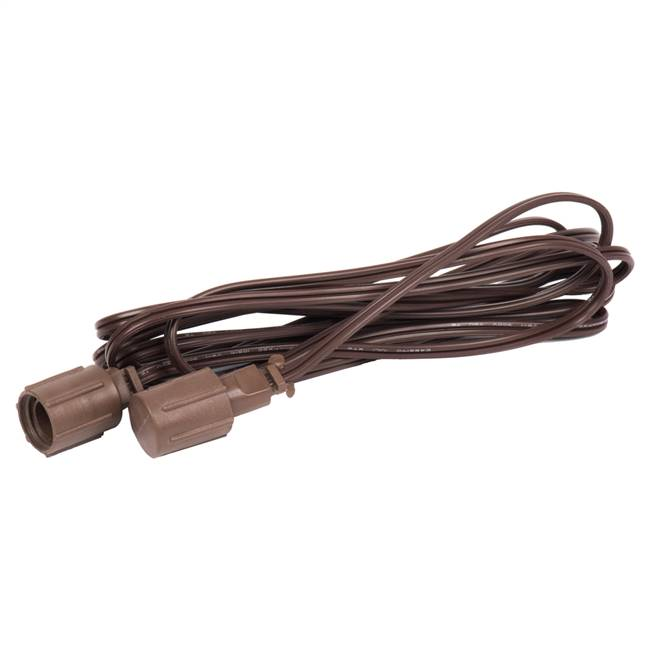 10' Brown Wire Coaxial Ext Cord 4/Bag
