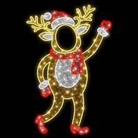 6.3'' LED Red Deer Photo Tinsel Motif