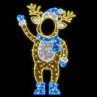 6.9' LED Blue Deer Photo Tinsel Motif