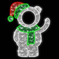 5' LED Little Bear Photo Tinsel Motif