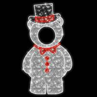 7.6' LED Big Bear Photo Tinsel Motif