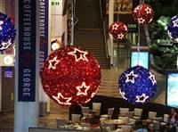 2.5' LED 3D Tinsel Star Ball
