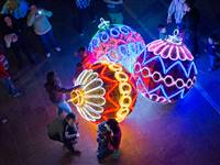 4' LED 3D Tinsel Ball