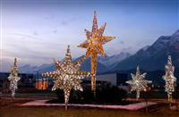 5'x 2'x 4' LED 3D Tinsel Bethlehem Star