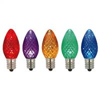 C7 Faceted LED Multi Twinkle Bulb