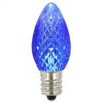 C7 Faceted LED Blue Twinkle Bulb