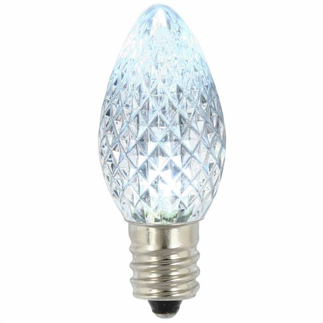 C7 Faceted LED Cool White Twinkle Bulb
