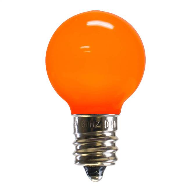G30 Orange Ceramic LEDBulb E12 .96W