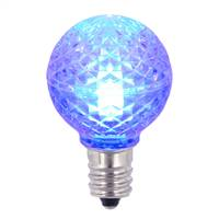 G30 Faceted LED Blue Bulb E12 .38W