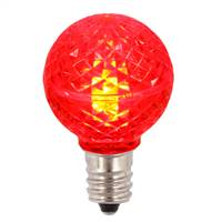G30 Faceted LED Red Bulb E12 .38W