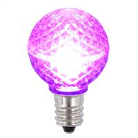 G30 Faceted LED Purple Bulb E12 .38W