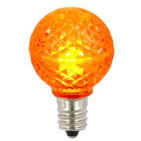 G30 Faceted LED Orange Bulb E12 .38W