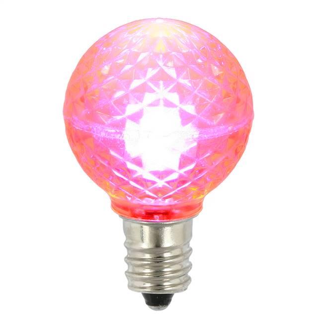 G30 Faceted LED Pink Bulb E12 .38W