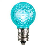 G30 Faceted LED Teal Bulb E12 .38W