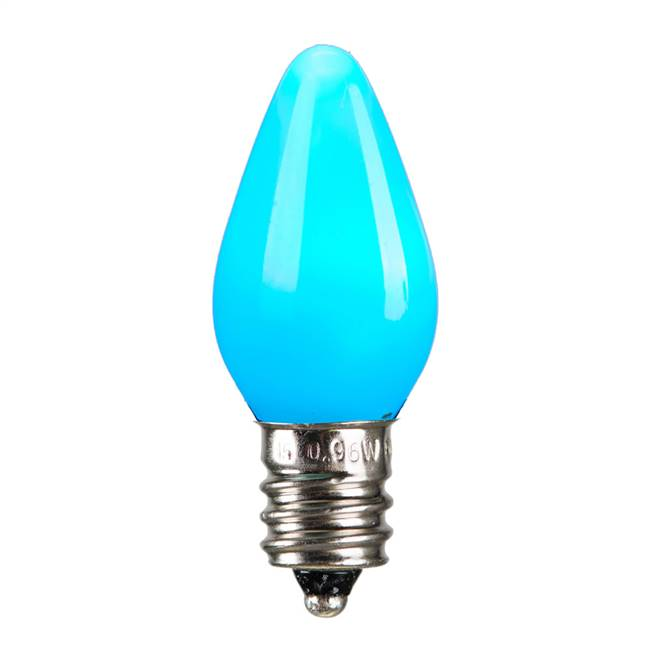C7 Ceramic LED Teal Bulb .96W 130V
