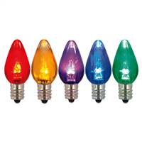 C7 Transparent LED Multi Bulb .96W 130V