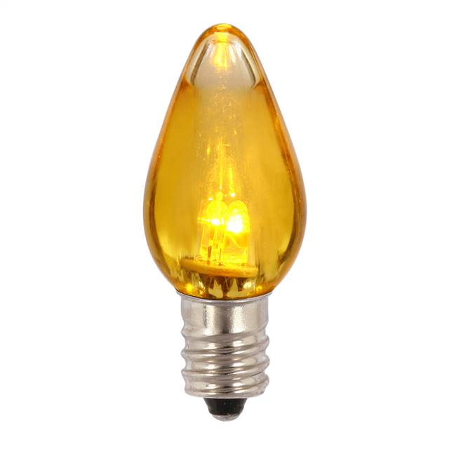 C7 Transparent LED Yellow Bulb .96W 130V