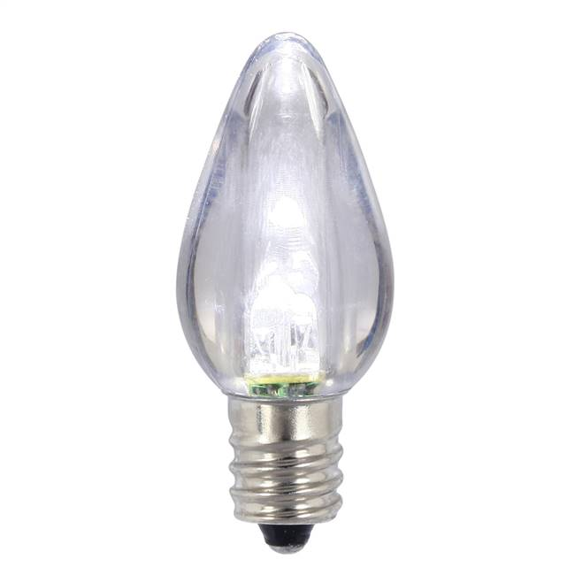C7 Transparent LED Pure Wht Bulb .96W