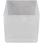 Frosted Cube Glass Vase 5x5x5 - CASE OF 12