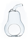 "Clear Pear Glass Terrarium / Votive Candle Holder. Width: 5.5"". Height: 8"""