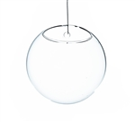 "Clear Half-Round Wall Hanging Terrarium. Diameter: 5"". Thickness: 3.3"""