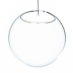 "Clear Half-Round Wall Hanging Terrarium. Diameter: 7"". Thickness: 5"""