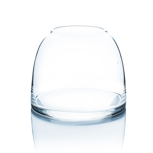 "Clear Dome Shaped Terrarium Bowl Glass Vase. Open: 3.6""; Height: 5.6""; Diameter: 7"""