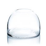 "Clear Dome Shape Terrarium Bowl Glass Vase. Open: 3.5""; Height: 5.7"""