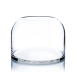 "Clear Dome Shape Terrarium Vase. Open: 6.1""; Height: 7""; Diameter: 9.75"""