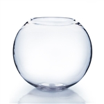 Clear Bubble Bowl Vase. (Utility) Diameter: 6. Height: 4.50""