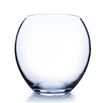 "Clear Egg Bowl Vase. Open: 5.5""; Height: 8""; Diameter: 7.5"""