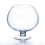"Clear Stem Bowl Vase. Open: 5"". Height: 9"""