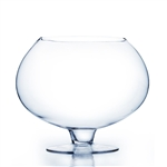 "Clear Stem Bowl Vase. Open: 8"". Height: 12"""